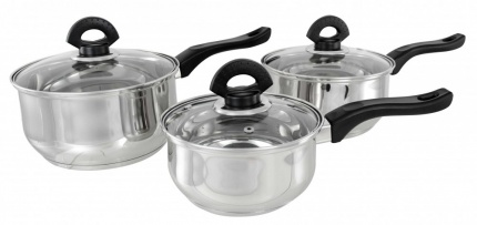 3 Piece Buckingham Induction Saucepan Set  1.6 Ltr.,  2.3 Ltr. & 3.2 Ltr.