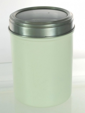 Acrylic Lid Canister 10.5cm Cream