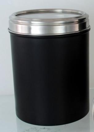 Acrylic Lid Canister 14cm Black