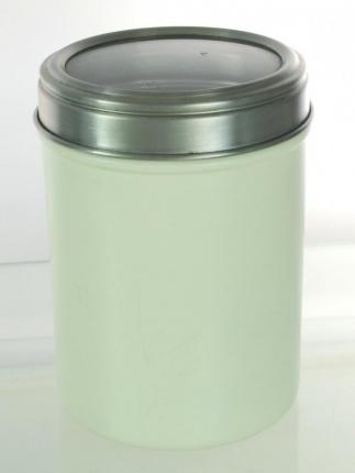 Acrylic Lid Canister 14cm Cream