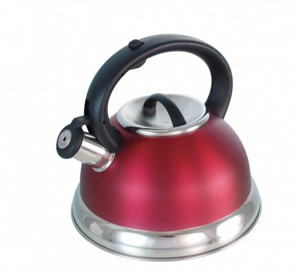 BUCKINGHAM PRESTIGE INDUCTION WHISTLING KETTLE 2.5 Ltr.  RED