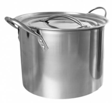 BUCKINGHAM STAINLESS STEEL LARGE STOCK POT / CASSEROLE/ STEW PAN / STOCKPOTS  8 Ltr.
