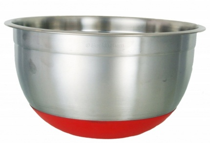 Deep Mixing Bowl 5L w/ RED Silicon Base