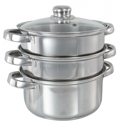 Buckingham Induction Three Tier Steamer Set (18cm)