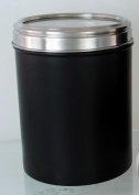 Acrylic Lid Canister 10.5cm Black