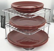 Buckingham 3 Tier Chrome Corner Plate Kitchen Cupboard Organiser, Storage Rack