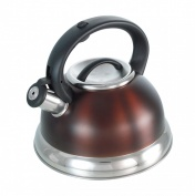 Buckingham Prestige INDUCTION Whistling Kettle 2.5 Ltr. Brown