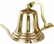"Buckingham Solid Brass Ship/Last Orders/Pub/Door Wall Mountable Bell , 8"" / 20 cm X 28.5 cm"
