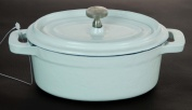 Cast Iron Mini Oval Casserole White  12 cm X 9 cm / 0.23 Litre