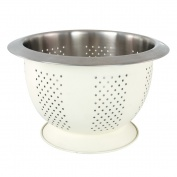 Collar Colander 24cm Cream