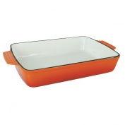 Orange Open Roasting Dish (30cm x 21cm)