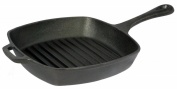 Pre-Seasoned 26.5cm Cast Iron Square Grill Pan