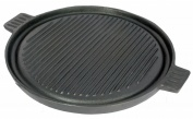Pre-Seasoned 36cm Cast Iron Reversible Round Grill Plate