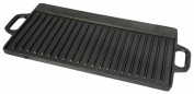 Pre-Seasoned 51 x 23cm Cast Iron Reversible Grill Plate