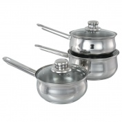Set of 3 Buckingham Saucepans  16 cm, 18 cm & 20 cm