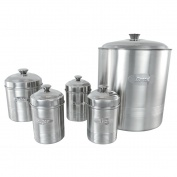 Set of 5 Ribbed Canisters (Matt Finish)