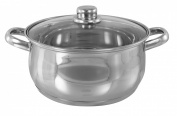 Buckingham Induction Deep Casserole  24cm  with Glass Lid