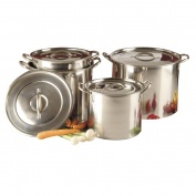Buckingham Set of 4 Promotional Stock Pots  6, 8, 11 & 15 Ltr.